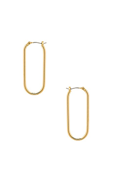 Marc by Marc Jacobs Bubble Hoop Earrings in Oro