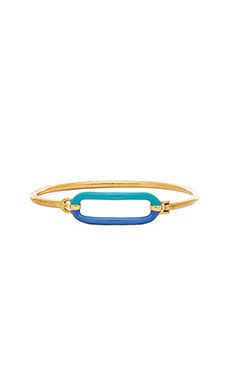 Marc by Marc Jacobs Bubble Hinge Cuff Bracelet in Conch Blue Multi
