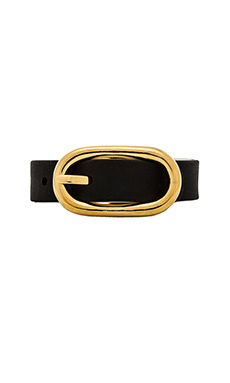 Marc by Marc Jacobs Reversible Buckle Up Bracelet in Black Multi