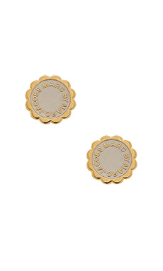Marc by Marc Jacobs Disc-O Stud Earrings in Talc