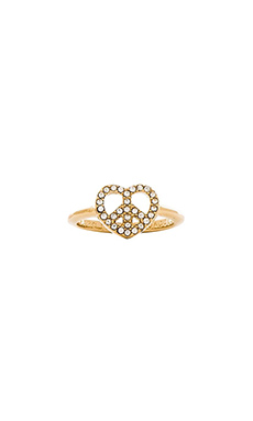 Marc by Marc Jacobs Peace & Love Ring in Crystal & Oro