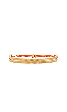Marc by Marc Jacobs Textured Friendship Bracelet in Mandarin