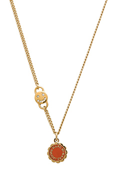 Marc by Marc Jacobs Scalloped Disc-O Necklace in Mandarin