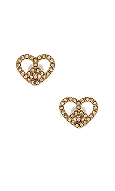Marc by Marc Jacobs Peace & Love Stud Earrings in Crystal & Oro