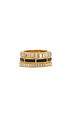 Marc by Marc Jacobs Octagon Stacking Rings in Black