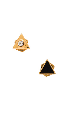 Marc by Marc Jacobs Triangle Stud Earrings in Black
