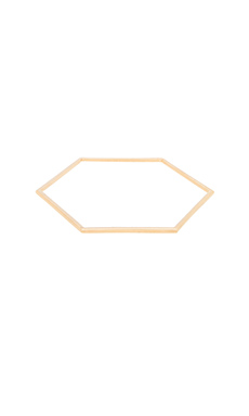Marc by Marc Jacobs Hexagon Bangle Bracelet in Oro