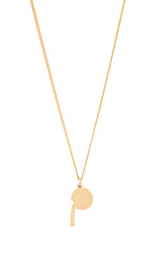 Marc by Marc Jacobs Whistle Necklace in Oro