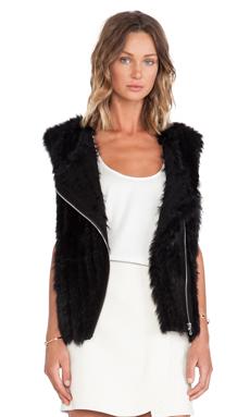 Marc by Marc Jacobs Abbey Rabbit Fur Vest in Black