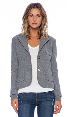 Marc by Marc Jacobs Skylar Wool Blazer in Grey Melange Multi