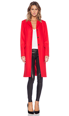 Marc by Marc Jacobs Hiro Felt Jacket in Cambridge Red