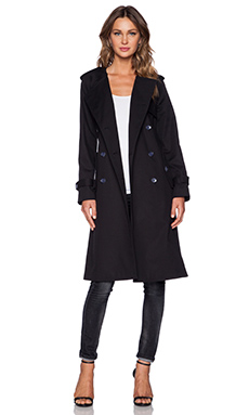 Marc by Marc Jacobs Tailored Trench Coat in Black