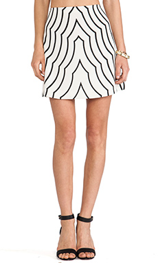 Marc by Marc Jacobs Radio Waves Print Skirt in Agave Nectar Multi