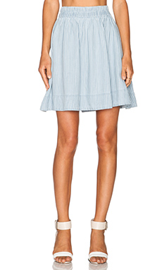 Marc by Marc Jacobs Indigo Skirt in Pale Stripe