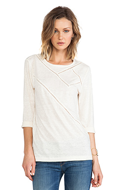 Marc by Marc Jacobs Carmen Jersey Tee in Antique White