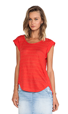 Marc by Marc Jacobs Eloise Ombre Jersey Tee in Bright Red