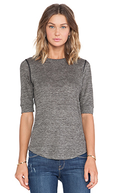 Marc by Marc Jacobs Carmen Long Sleeve Tee in Grey Melange