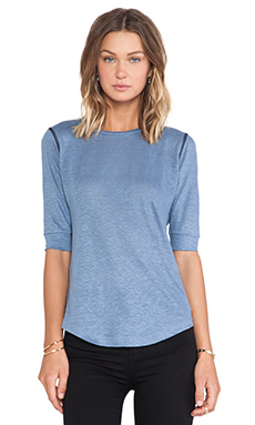 Marc by Marc Jacobs Carmen Long Sleeve Tee in Smokey Blue