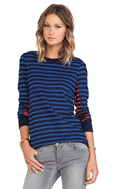 Marc by Marc Jacobs Tomiko Long Sleeve Top in Skipper Blue Multi