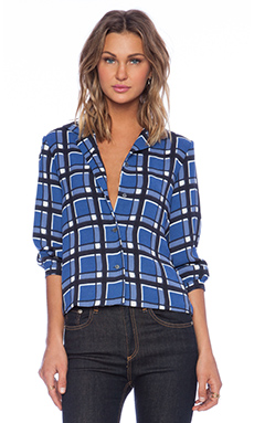 Marc by Marc Jacobs Toto Plaid Button Down in Skipper Blue Multi