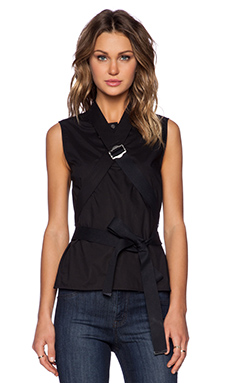 Marc by Marc Jacobs Lyra Washed Poplin Tank in Black
