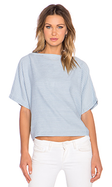 Marc by Marc Jacobs Indigo Crop Top in Pale Stripe