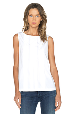 Marc by Marc Jacobs Stretch Poplin Tank in White