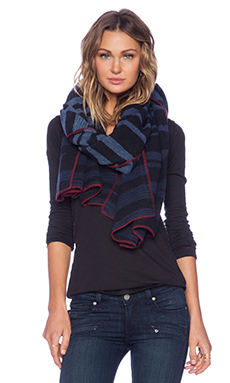 Marc by Marc Jacobs Tora Stripe Scarf in Normandy Blue Multi
