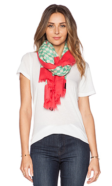 Marc by Marc Jacobs Cleaver Check Scarf in Bright Pretty Pink Multi