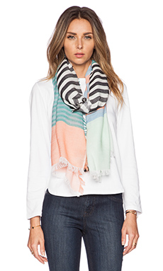 Marc by Marc Jacobs Home Stripe Scarf in Pale Jade Multi