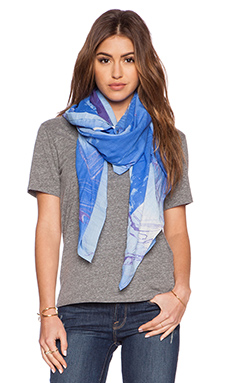 Marc by Marc Jacobs Milky Block Scarf in Conch Blue Multi