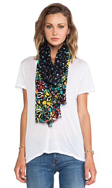 Marc by Marc Jacobs Jungle Achira Print Scarf in Black Multi