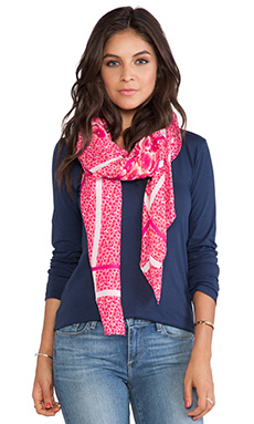 Marc by Marc Jacobs Aki Flower Scarf in Knockout Pink Multi