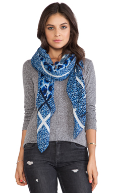 Marc by Marc Jacobs Aki Flower Scarf in Skipper Blue Multi