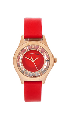 Marc by Marc Jacobs Henry Skeleton in Rosegold & Bright Red