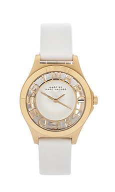Marc by Marc Jacobs Henry Skeleton in White & Gold