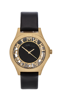 Marc by Marc Jacobs Henry Skeleton in Black & Gold