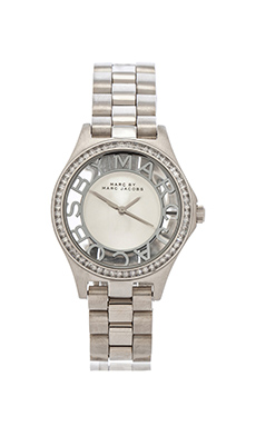 Marc by Marc Jacobs Henry Skeleton Glitz in Silver