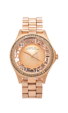 Marc by Marc Jacobs Henry Skeleton Glitz in Rosegold