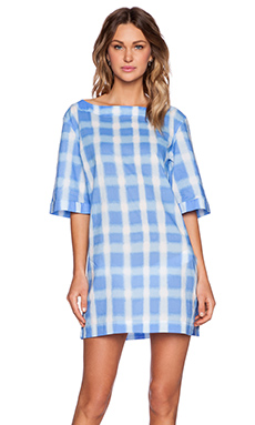 BLURRED GINGHAM LAWN COURTNEY TUNIC