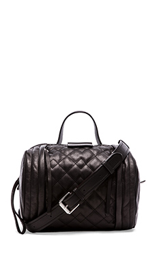 Marc by Marc Jacobs Moto Quilted Barrel Bag in Black