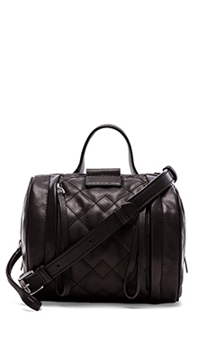 Marc by Marc Jacobs Moto Quilted Barrel 18 Bag in Black