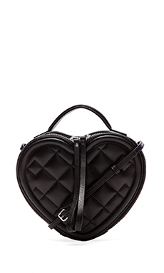 Marc by Marc Jacobs Heart to Heart Quilted Crossbody Bag in Black