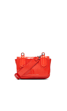 Marc by Marc Jacobs Ball & Chain Bubble Patent Bond Bag in Orange Glow