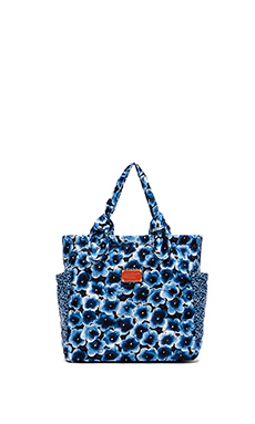 Marc by Marc Jacobs Pretty Nylon Aki Floral Medium Tote in Skipper Blue Multi