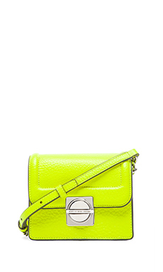 Marc by Marc Jacobs Top Schooly Leather Jax Bag in Safety Yellow