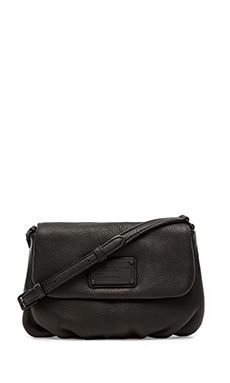 Marc by Marc Jacobs Electro Q Flap Percy Bag in Black