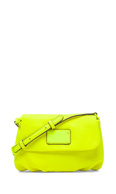 Marc by Marc Jacobs Electro Q Flap Percy Bag in Safety Yellow