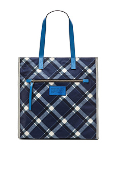 Marc by Marc Jacobs Marc It TT Plaid Tote in Skipper Blue Multi