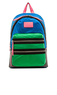 Marc by Marc Jacobs Loco Domo Packrat Backpack in Electric Blue Lemonade